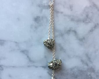 Triple Pyrite Necklace