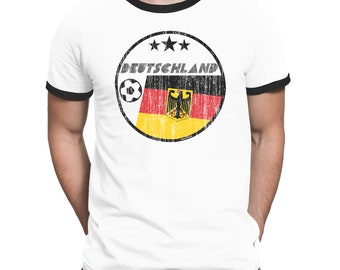 DEUTSCHLAND GERMANY Mens Country T-Shirt FOOTBALL World Cup 2018 Mans Retro Circle Flag