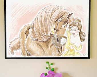 Belle and Philippe Art Print