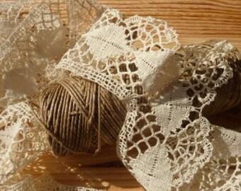 ecru linen pillows * 2.80 m 6 cm * handmade