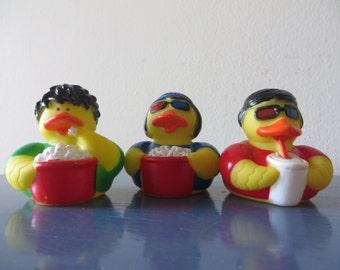 Movie Goer rubber ducks.- They are adorable - Let's go to the movies!