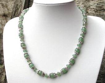 Aventurine Necklace, Green Aventurine, Gemstone Necklace, Stone Bead Necklace, Necklace Aventurine, Necklace Stone Bead, Bead Necklace Stone