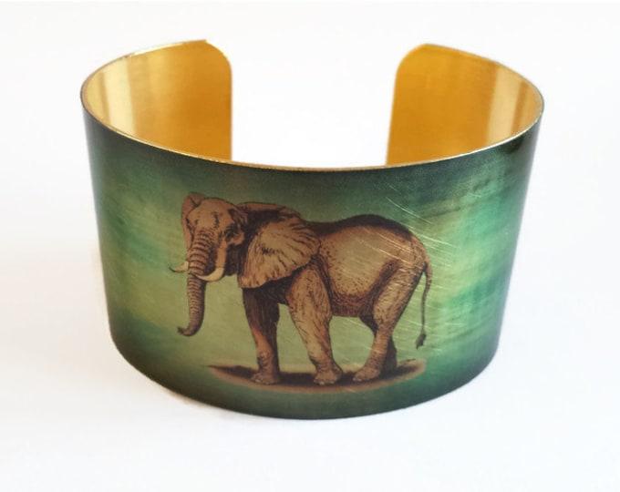 Gentle Elephant cuff bracelet brass Gifts for her