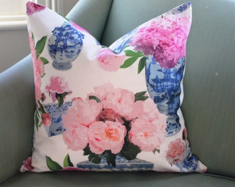 Ginger Jars and Roses Cushion Pillow Cover
