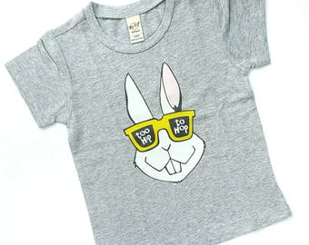 Too Hip To Hop Easter T-shirt - Infant Shirt, Toddler Shirt, Kid Shirt, Todder Tee, Infant Tee, Kids Tee, Easter Tee, Bunny shirt