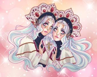 Matroyshka Twins art print