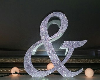 "AMPERSAND ""&"" SIGN with any color GLITTER"