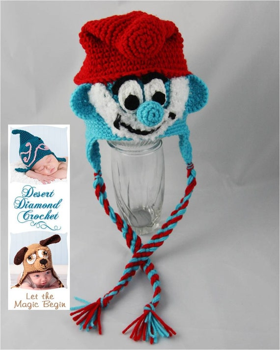 Grandpa Blue Gnome Hat - Any Size