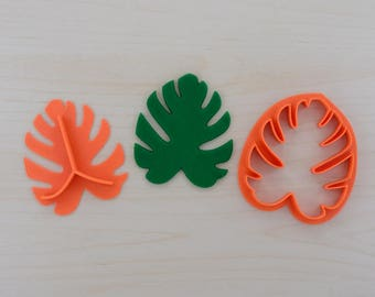 Tropical Leaf Fondant Cutter with Plunger