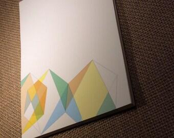 Gem Design Personalized Notepad - Geometric Notepad - Layered Geometric  Notepad -   Notepad