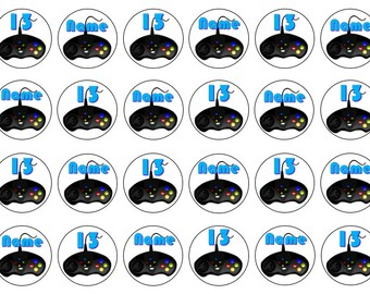 Computer Game Toppers, Birthday Cupcake Toppers, Edible Toppers, Wafer Paper, Icing Paper