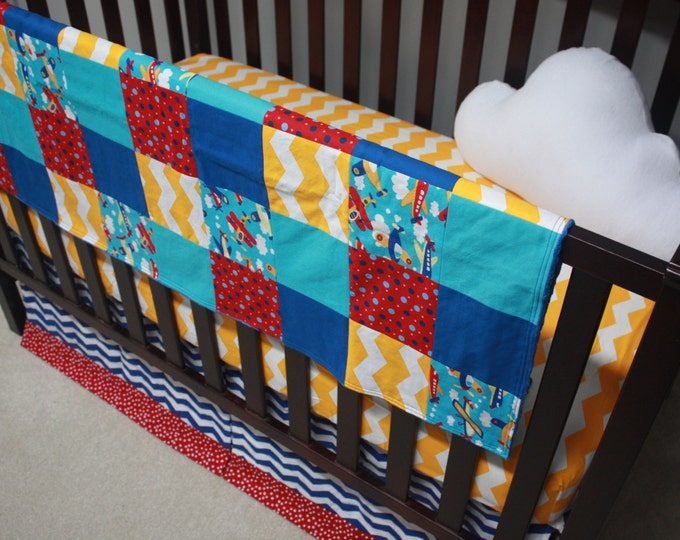 Airplane Baby Bedding--Primary Colors