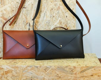 Leather bag⎪Leather clutch⎪Handmade bags⎪Pochette bag⎪Elegant bag⎪Clutch