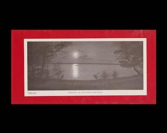 Burr McIntosh Monthly Magazine Print - Moonlight on Lake Worth, Palm Beach c. 1903