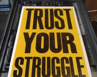 Trust Your Struggle (yellow)