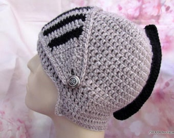"Men Hat crochet Helmet "" Lancelot "" , Hat Men  crochet, Hat Snowboard Men Slouch Hat, Winter Mask Bikes"