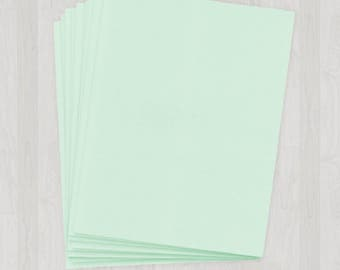 10 Sheets of Text Paper - Mint and Light Green - DIY Invitations - Paper for Weddings & Other Events
