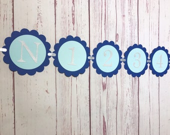 Monthly Photo Banner, First Year Banner, Milestone Banner, Photo Banner, 1st Birthday Boy, First Birthday, 12 Month Banner, Baby Photo Sign