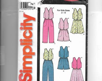 New Look Girls' Vest, Flared Shorts and Straight Pants or Shorts Pattern. 7055
