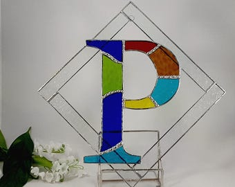 Stained Glass Initial Letter P