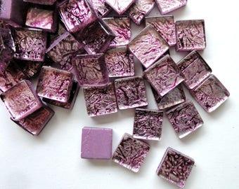 Mini Antiqued Purple Foil Backed Mosaic Tiles//Mosaics//Mosaic Supplies//Craft Supplies