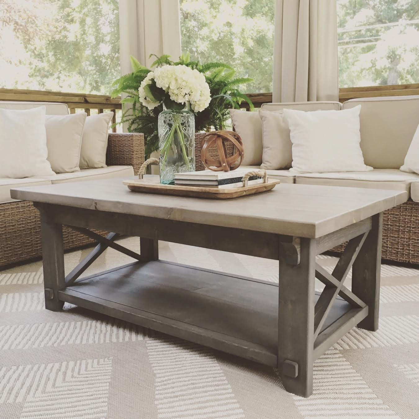 x style country coffee table x coffee