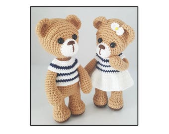 amigurumi bear couple 2