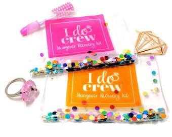 Hangover Kit, Hangover Bag, I Do Crew, Bachelorette Party, Survival Kit, Favor, Custom, Custom Gift Packaging, Favor Bag