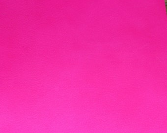 """RESTOCKED Leather 8""""x10"""" NEON Hot Pink PIGSKIN  2-2.5 oz / .8-1 mm PeggySueAlso™ E2531-02 full hides available"""