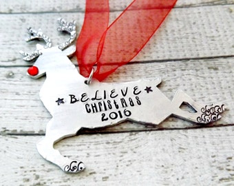 personalized Christmas ornament- reindeer ornament-rudolph ornament-christmas ornament-family ornament-personalized ornament-christmas gift