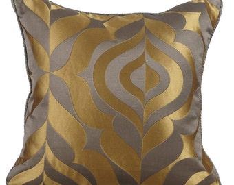 Decorative Throw Pillow Cover Couch Pillow Sofa Pillow Bed Accent Pillow Toss Pillow 16 x 16 Grey Pillow Case Bedding - Grey Gold Luxury
