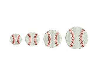 Baseball Mini Machine Embroidery Design. 4 sizes. Instant download