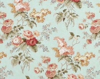 Waverly Fabric Emma's Garden color Mist Fabric Printed Decorative