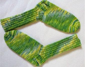 Handmade knitted socks wool socks knitted socks handmade hand knit socks wool 6 fold/threads hand dyed 6 fold/threads Gr38/39