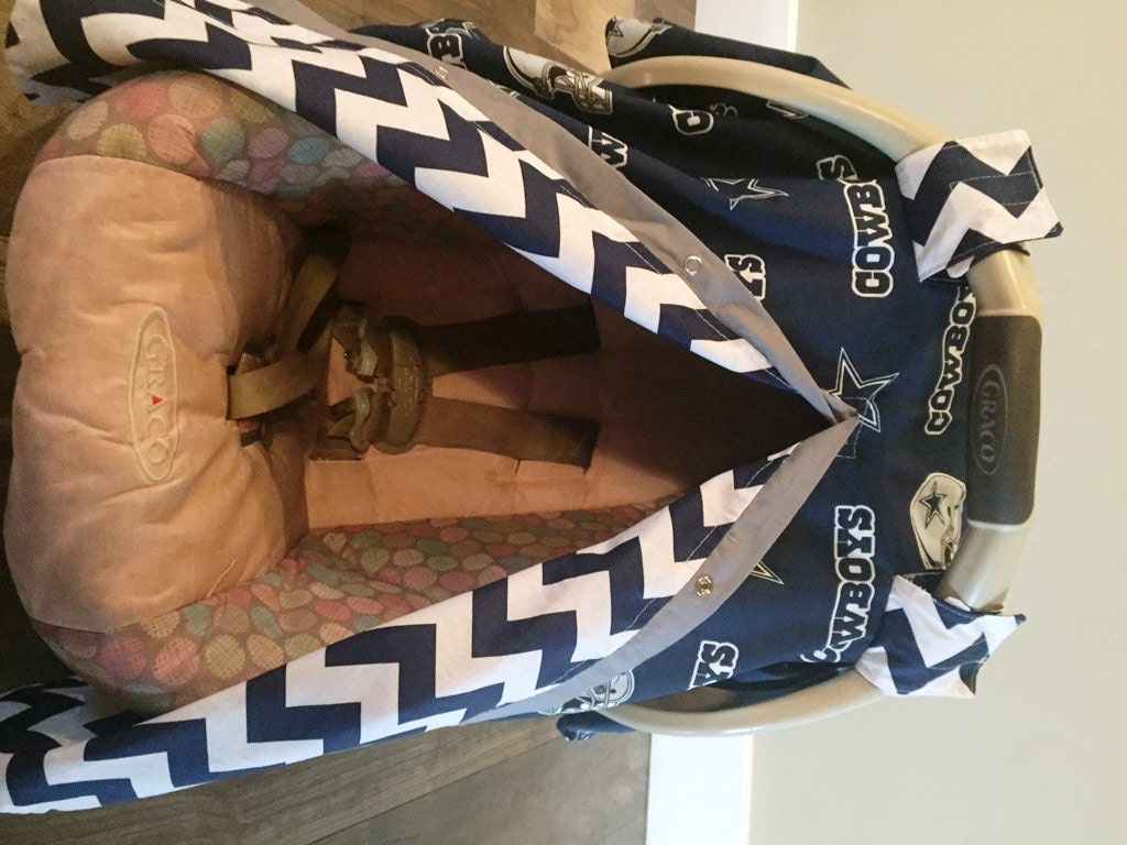 Dallas Cowboys Car Seat Canopy Cover Nursing Carseat