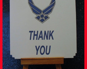 Air Force notes, Air Force cards , Air Force thank you card package of 10