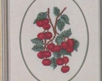 Helen Burgess Counted Thread Design. Cherries Pattern. HB4094.