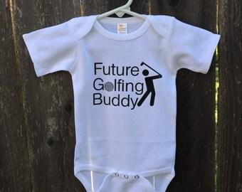 Future Golfing Buddy baby Bodysuit !