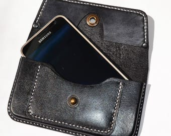 Sumsung S6, S7,  Handmade Leather case for smartphones