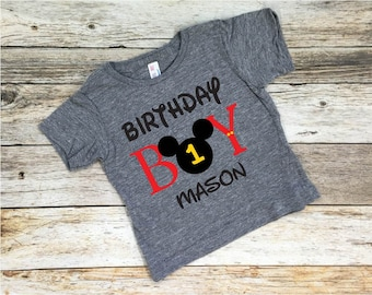 Mickey Mouse Birthday Boy Tee,Mickey Mouse Birthday,Disneyland Birthday,Disney,Mickey Mouse,Disney Birthday