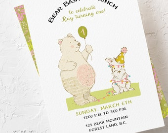 Birthday Invitations - Bear Birthday Bash (Style 13695)