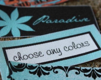 210 Custom Printed Fabric Labels Sew on or Iron on GREAT DEAL
