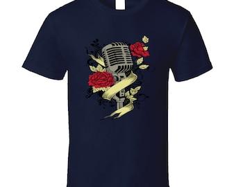 Microphone t-shirt. Microphone tshirt for him or her. Microphone tee as a Microphone idea gift. A great Microphone gift with Microphone top