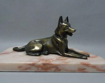Zamac image Shepherd Dog on marble base