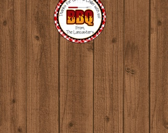 BBQ Tag, Barbeque Tag, Grillin' and Chillin', BBQ  Favor, Western Favor Tag, Cowboy BBQ, I Do Barbeque, Picnic Tag, Birthday Tag,