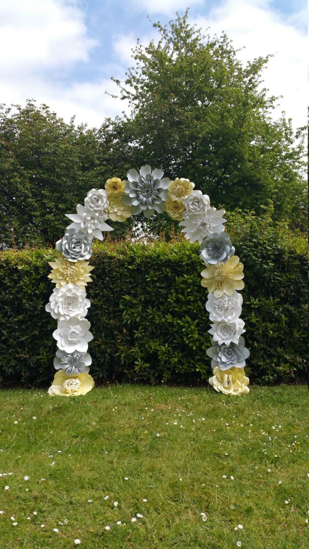 Paper Flower Arch Wedding Arch Flower Arch Wedding