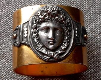 A Very rare good quality antique Elkington & co napkin ring of Bacchus c1872/3