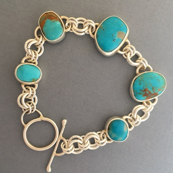 Turquoise Bracelet from the Fox mine in Nevada