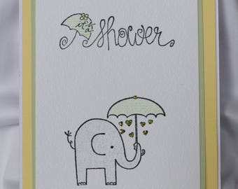 Homemade Baby Shower Invitations (Set of 5)