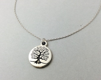 Tree of life necklace,silver tree necklace, tree pendant, tree necklace, woodland necklace, tree of life charm, bridesmaids gifts